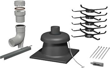 Abgasrohr Abgasleitung Abgas-Schornstein Kamin Abgassystem Brennwert DN 60//100