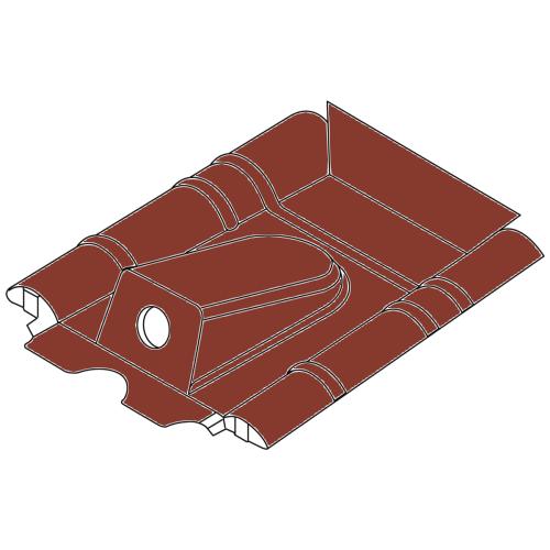 RAL 7021 - Anthrazit Solardurchf/ührung f/ür Braas Nelskamp Harzer Sigma Dachziegel Solardurchgang Dachdurchgang